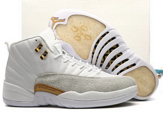 Air Jordan Retro 12 All White Gold On Sale